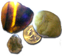 The banded agate was back lit to better show the banding.  These are some of Jim & Kathy's Treasures from 11-11-09