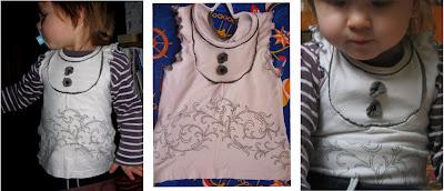 Как переделать футболку - превращения с кокеткой 5
