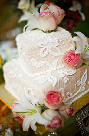 Daily Wedding Inspiration Wedding Cake A vintage style cake is created