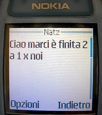 Il risultato via SMS.