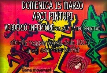 Locandina dell'Aperitivo Reggae.