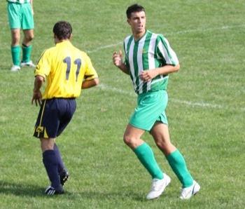 Stefano Oggioni all'esordio ufficiale in biancoverde.
