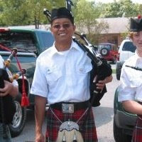 My Malaysian Father in all his Glory as a Scottish Bagpiper