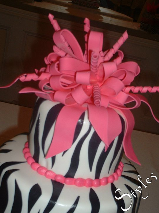 Cakes By Styles 25th Birthday Cake Pink Zebra Theme