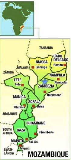 My Site: Gurue, Zambezia, Mozambique- The Star Marks the Spot