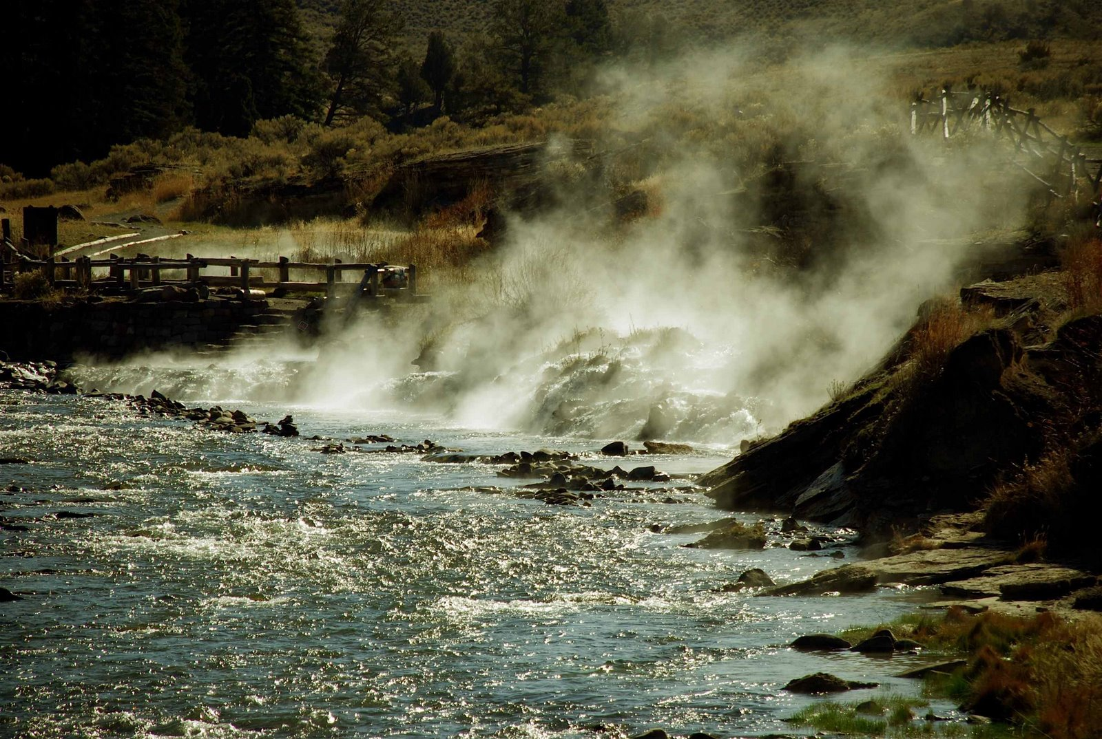 Boiling River Hot Springs