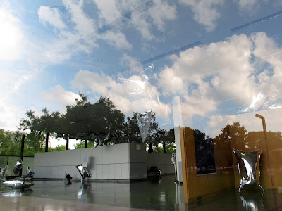 Andy Warhol Silver Clouds reflected in Mies van der Rohe's Crown Hall at IIT in Chicago 3