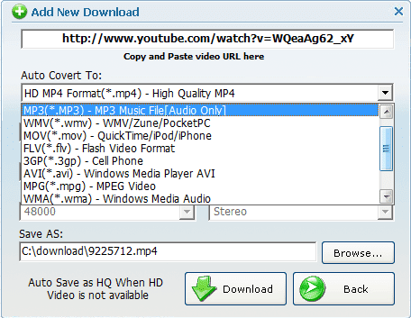 download music using url youtube