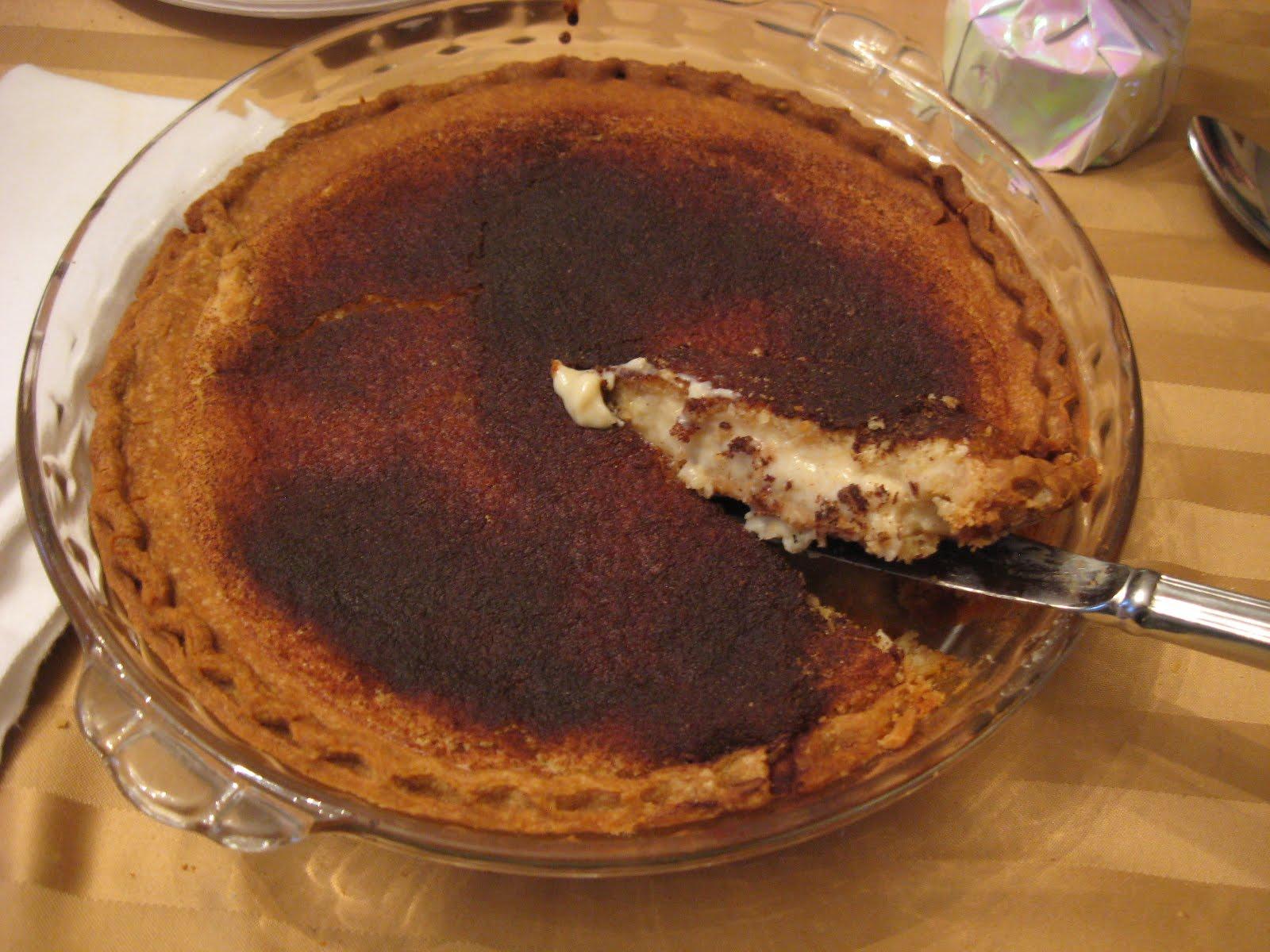 Frugal Feasts: Sweet Sugar Cream Pie