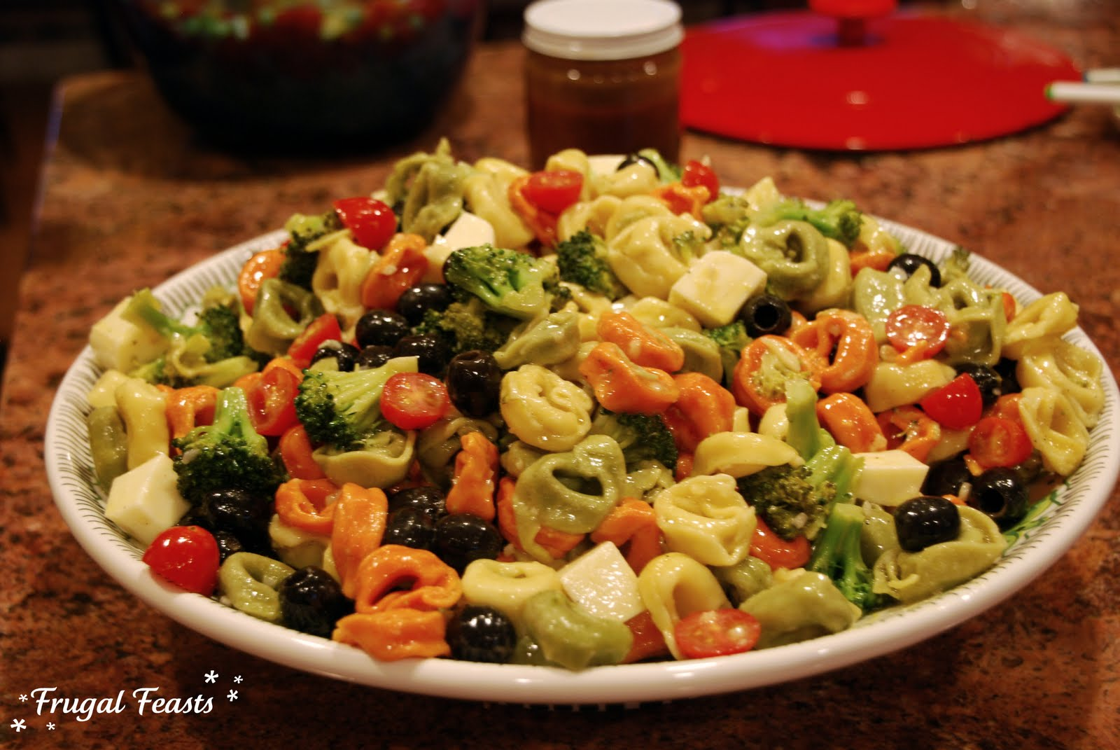 Tortellini Salad for a Crowd | Frugal Feasts