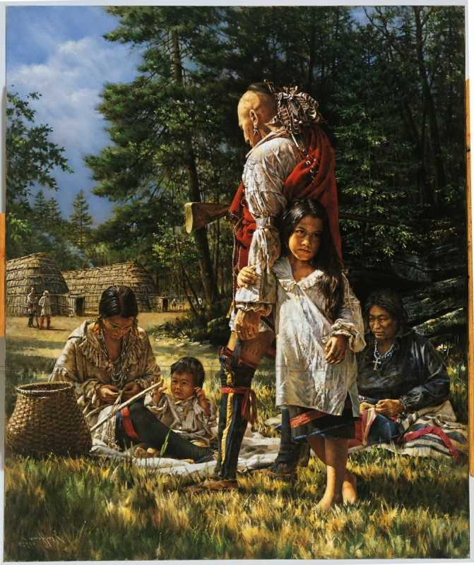 Native American Of The Eastern Woodlands War Men Clothing
