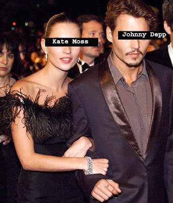 didn't kiss Johnny Depp SUBMITTED BY: Kate Moss LENGTH OF RELATIONSHIP: 3