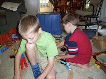 Barefoot Boys Playing Together