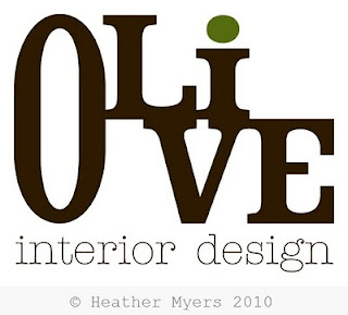 Heather l myers graphic design logo design for olive for Interior design logo