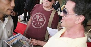 Stallone com fãs