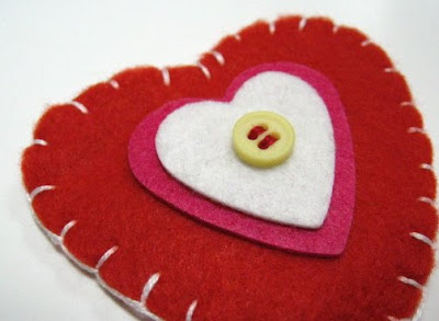 valentine hair clips- tutorial