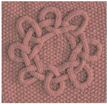 Knitted Afghan Square Patterns : The Friendship Afghan Project: Pattern of the Day: Celtic Sun Square (Knit, 8...