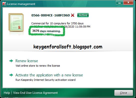 Kaspersky internet security 2010 900463 + 2 kaspersky trial resetter