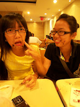 Choco on our face