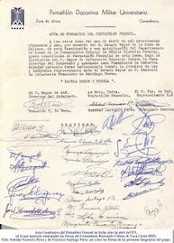 Acta de Fundación, 7 de abril de 1951