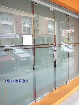 Tempered glass door and fixed panel with sandblast film tempered glass door and fixed panel with sandblast film planetlyrics Gallery