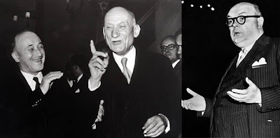 Monnet, Schuman and Spaak (right) - the 'fathers' of the European Union