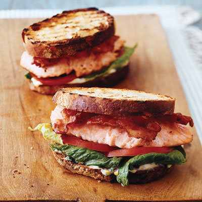 Smoky Salmon BLTs Recipe — Dishmaps