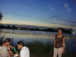A orilla del lago