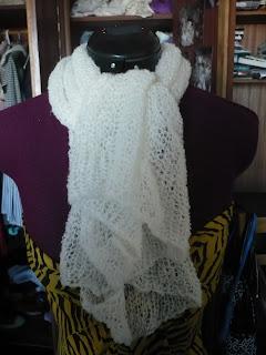mohair shrug scarf