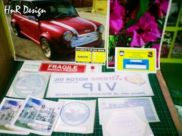 Tempahan Sticker Cermin kereta
