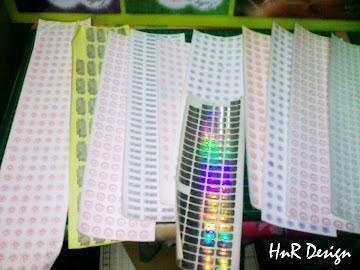 Tempahan Warranty Sticker untuk Kedai H/p