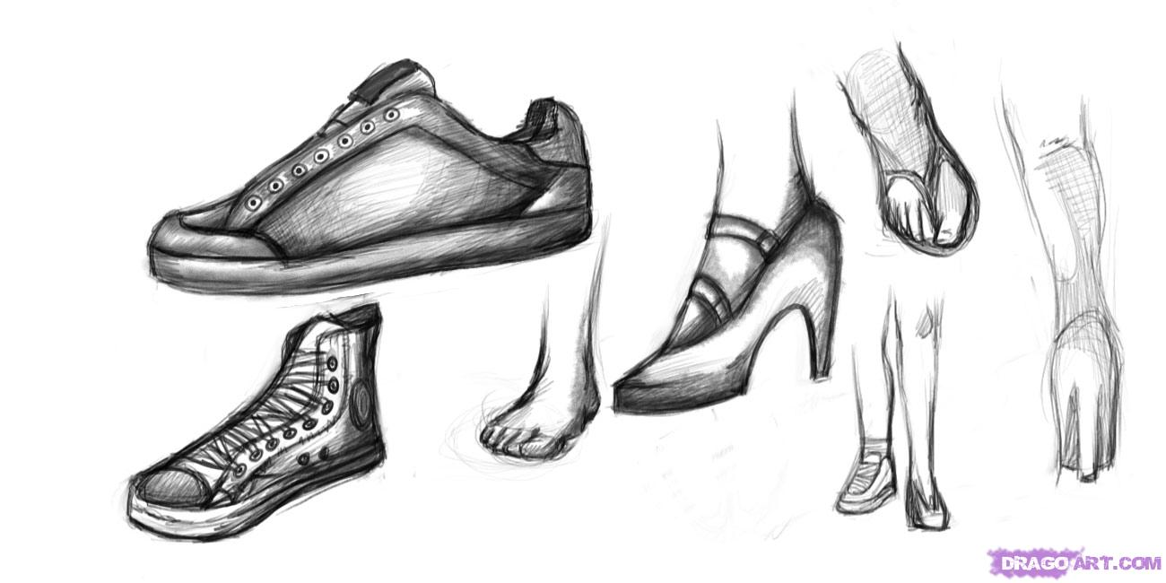 How To Draw Vans Shoes Step By Step