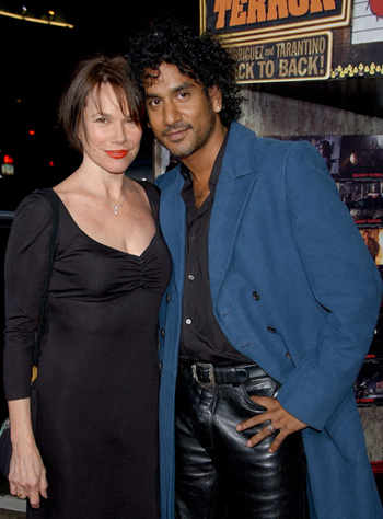 Naveen Andrews Wife Name Barbara hershey and naveen