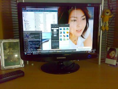 Hikaru Yuuki new installed monitor in vista