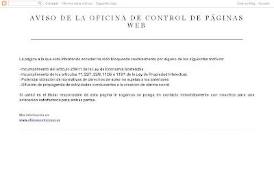 Aviso control de páginas web