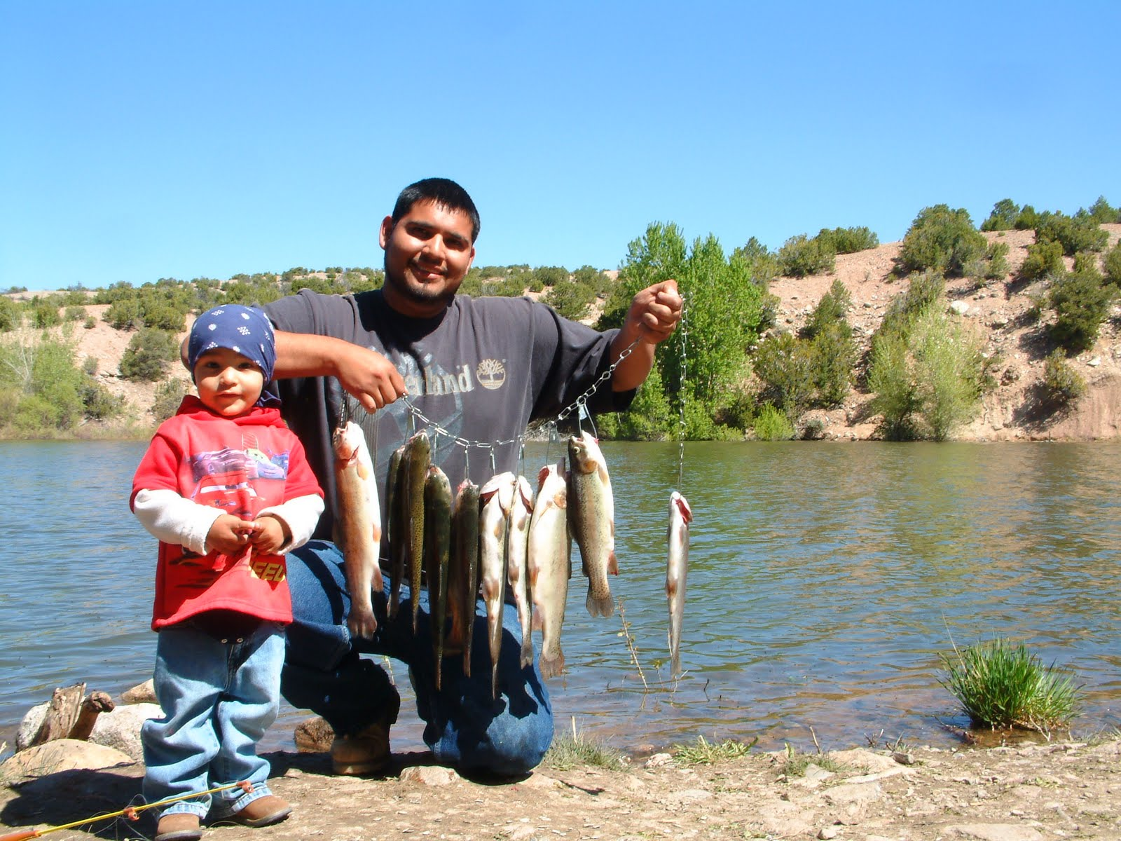 Nambe lake and falls beats the heat great fishing for Santa fe dam fishing
