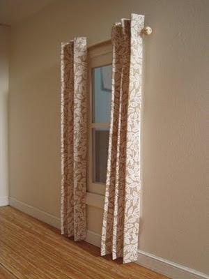 Dollhouse Curtains ~ Hanginu0027 Hem Free!