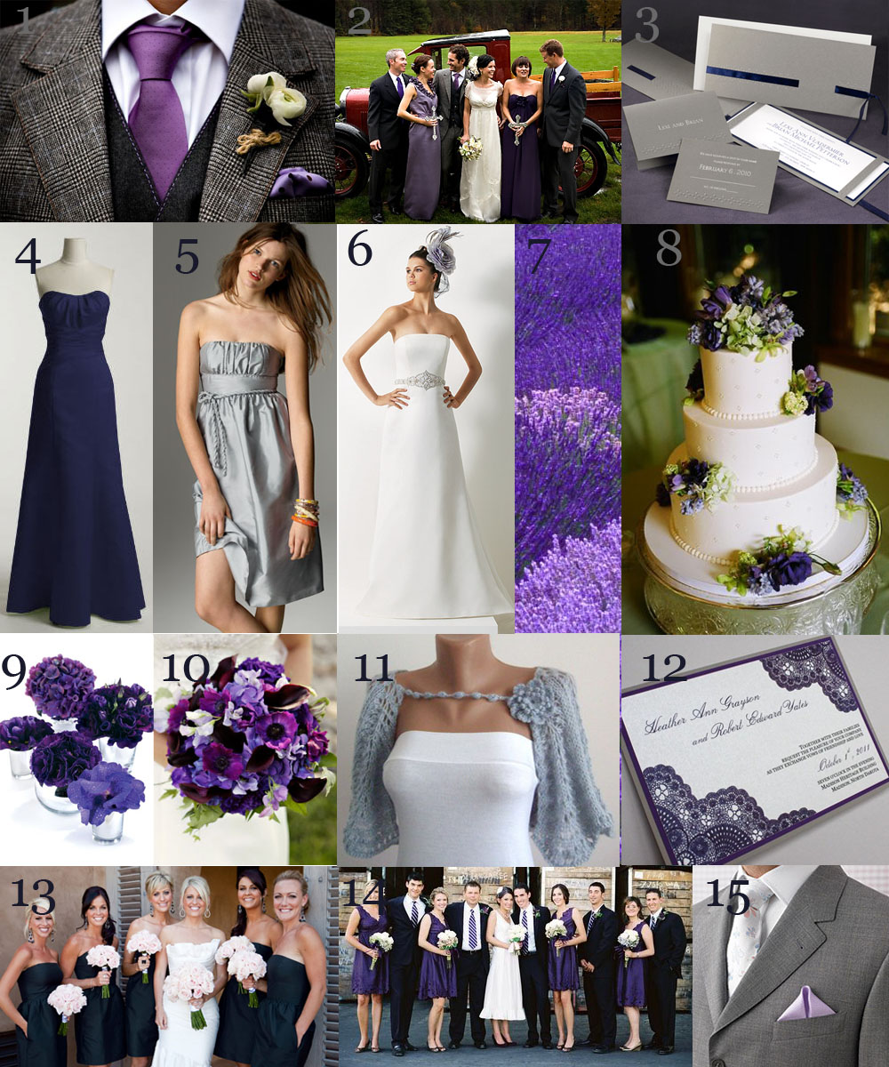 The Very Indecisive Bride Royal Hues Gray Purple & Navy