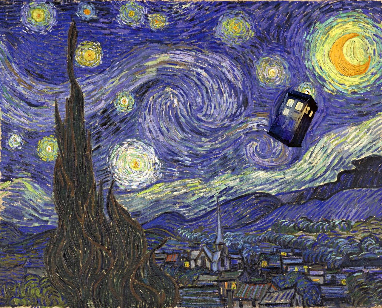 Popped Culture Gotham Starry Night And Other Van Gogh Parodies
