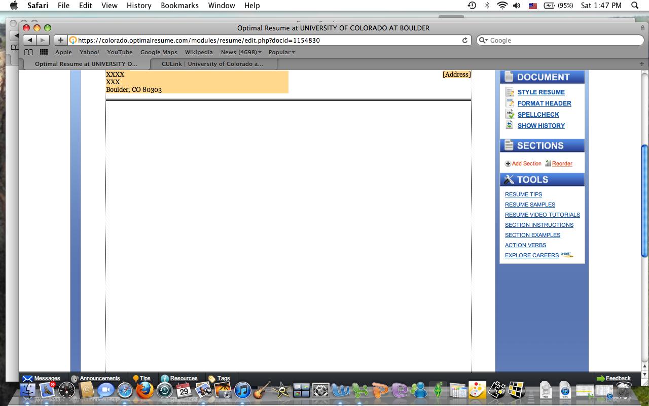 Optimal Resume Ou Resume Format Download Pdf  Ou Optimal Resume