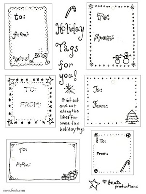 Juicy image with regard to printable christmas tags black and white