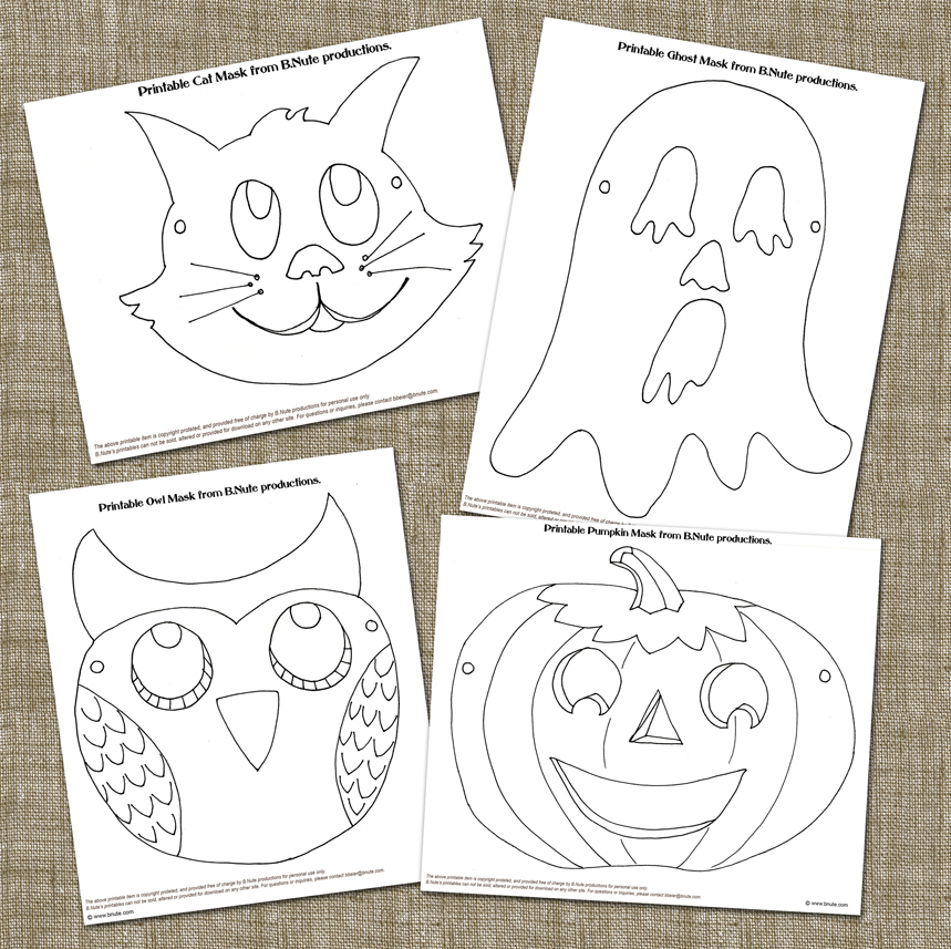 Old fashioned halloween party printable halloween mask art activity