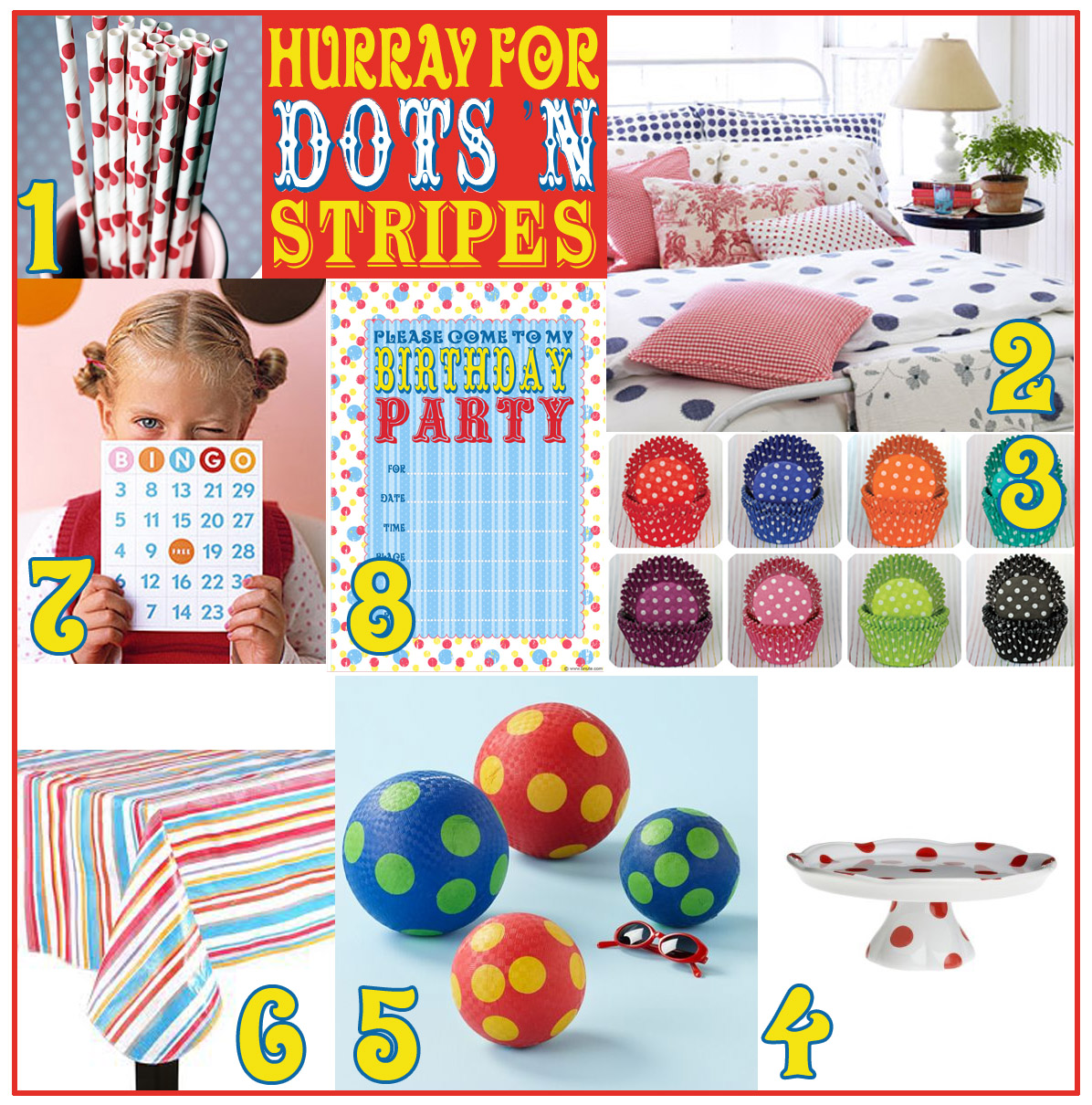 Bnute productions weekly roundup hurray for dots 39 n for Dots and stripes party theme