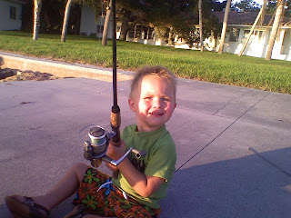 Nephew Fishing