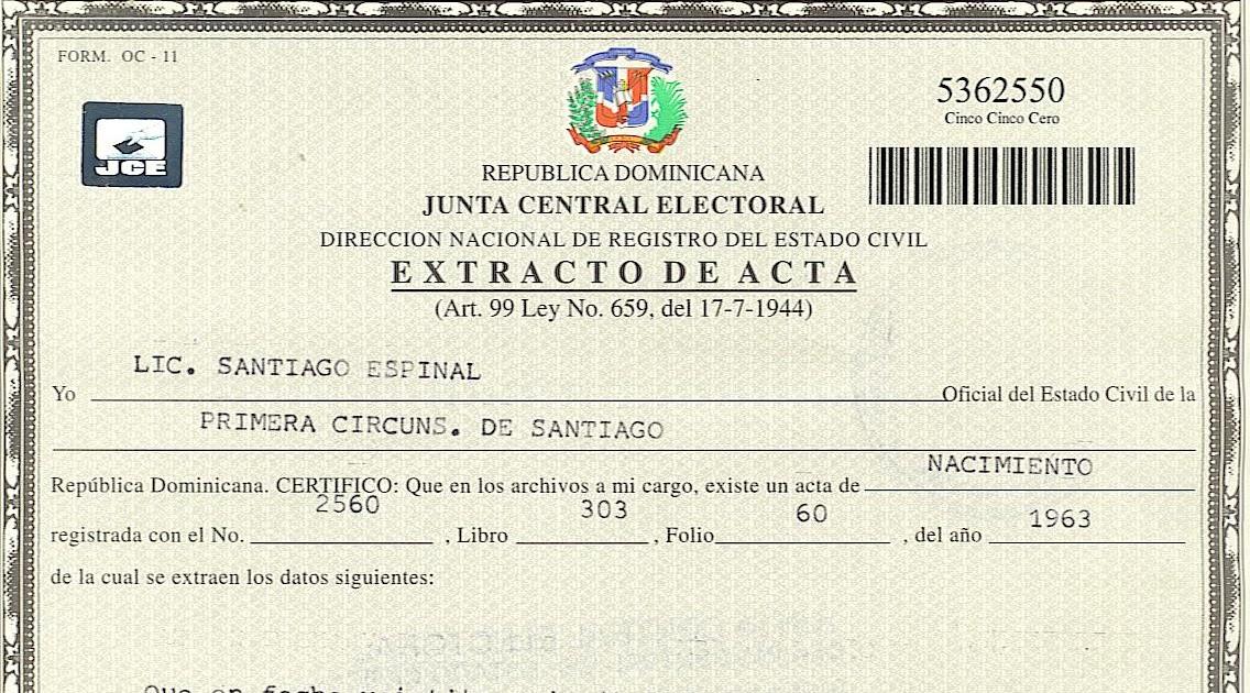 Perfecto Certificado De Nacimiento Vacía Colección - Certificado de ...