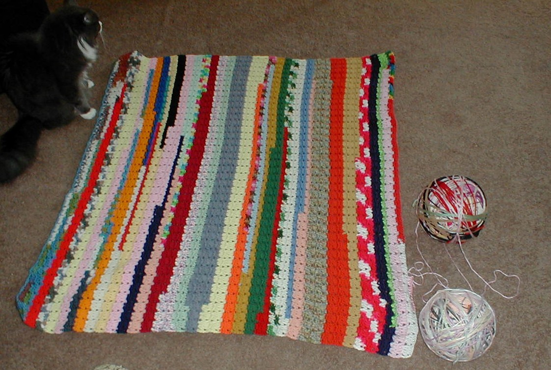 Free Crochet Afghan Patterns For Leftover Yarn : Karens Crocheted Garden of Colors: Many colored afghan ...