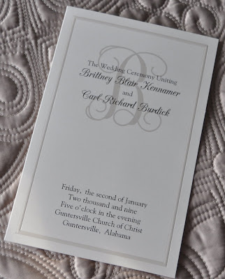 Layout Ivory Pearl HalfFold Wedding Program Ink Color Black