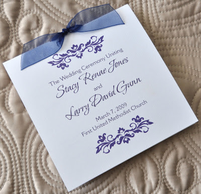 Layout Cameron Wedding Program Ink Color Navy Paper White Linen