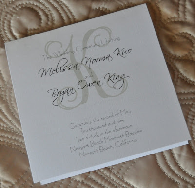 Layout Mary Wedding Program Ink Color Black Paper White Linen