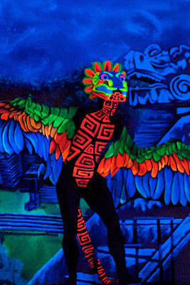 Body Painting Aztec Motif
